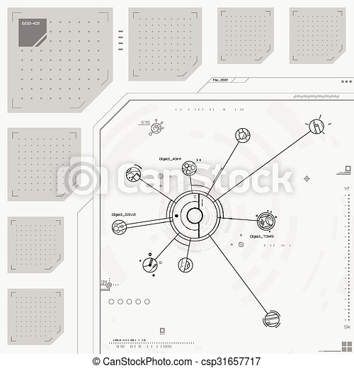 interface, graphique, utilisateur, futuriste - csp31657717