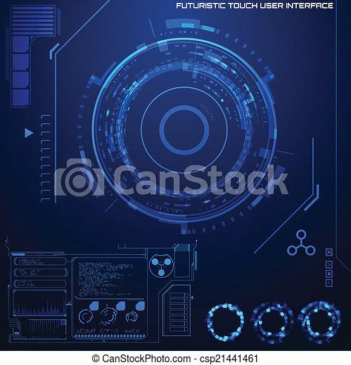 interface, graphique, utilisateur, futuriste - csp21441461