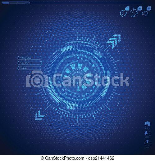 interface, graphique, utilisateur, futuriste - csp21441462