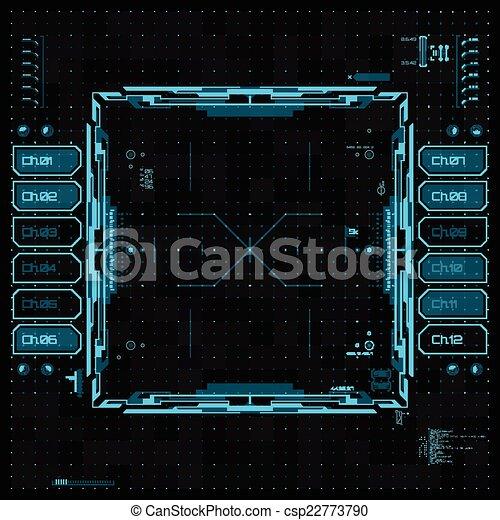 interface, graphique, utilisateur, futuriste - csp22773790