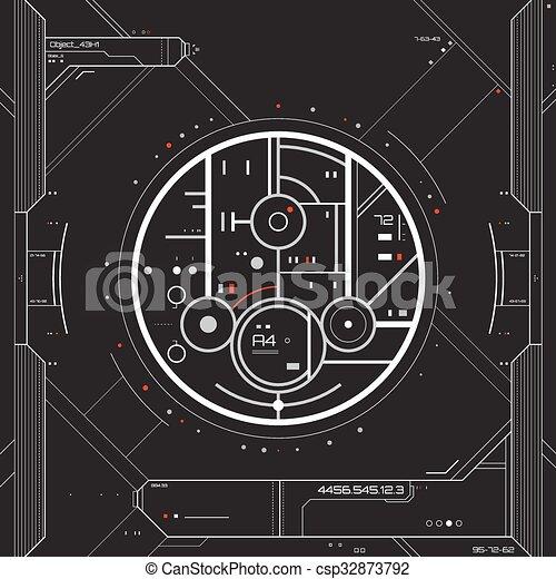 interface, graphique, utilisateur, futuriste - csp32873792