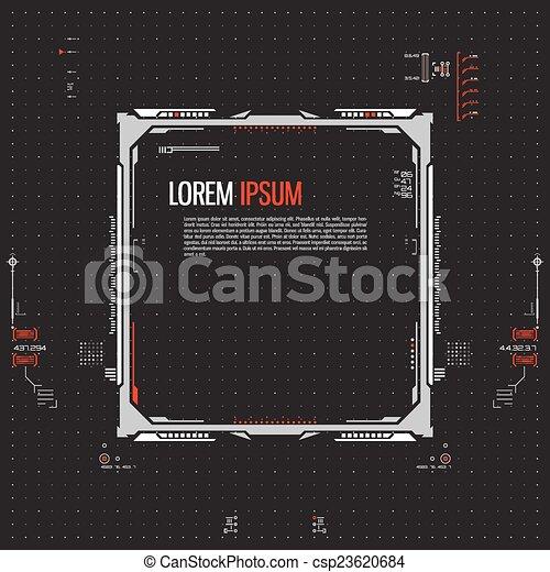 interface, graphique, utilisateur, futuriste - csp23620684