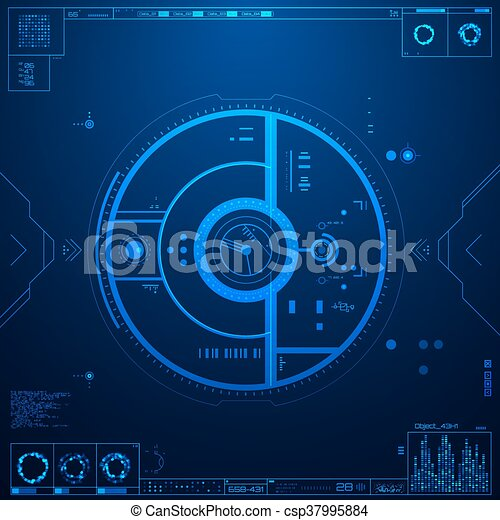 interface, graphique, utilisateur, futuriste - csp37995884