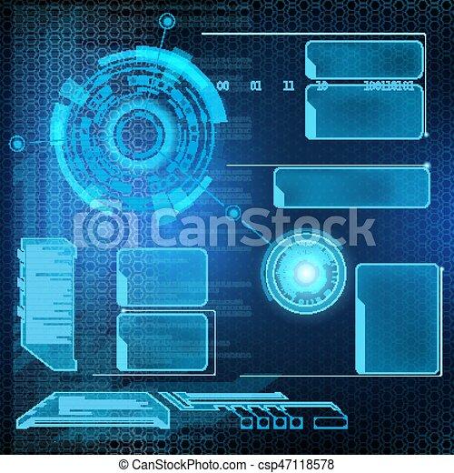 interface, hud, futuriste - csp47118578