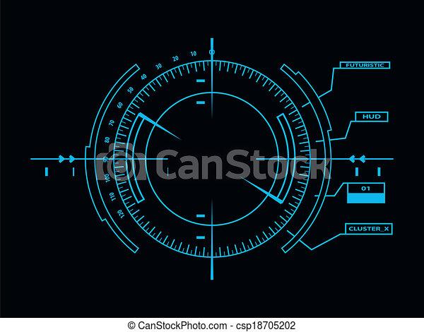 interface, hud, utilisateur, futuriste - csp18705202