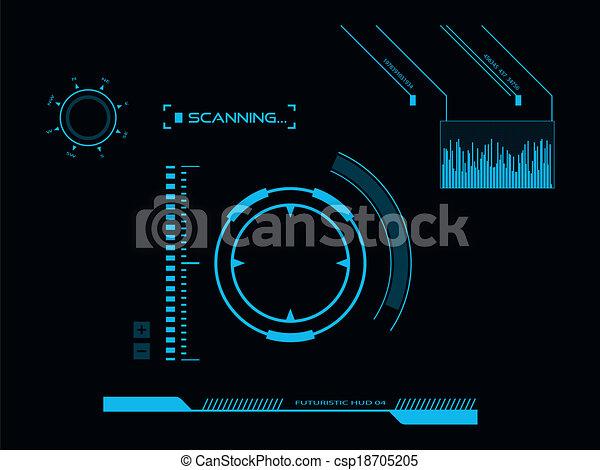 interface, hud, utilisateur, futuriste - csp18705205