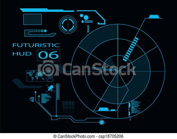 interface, hud, utilisateur, futuriste - csp18705206