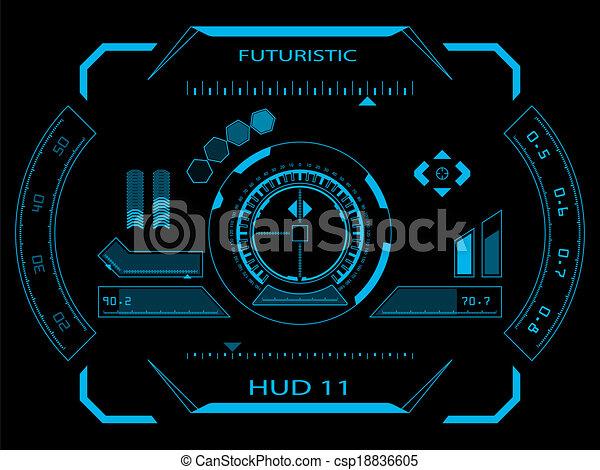 interface, hud, utilisateur, futuriste - csp18836605