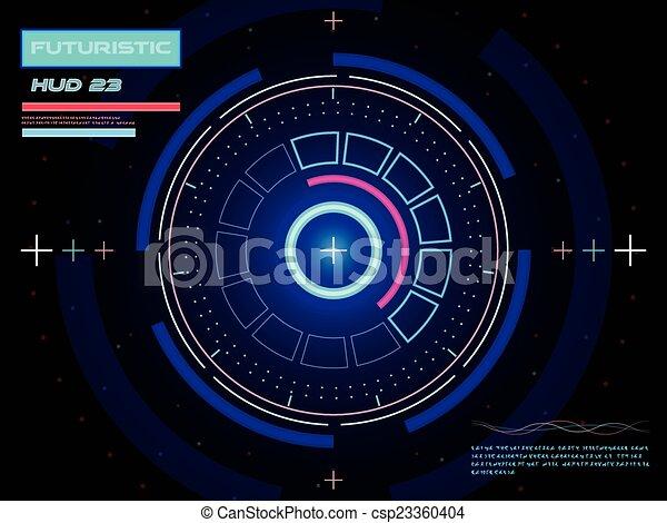 interface, hud, utilisateur, futuriste - csp23360404