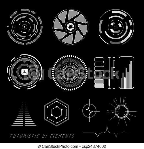 interface, hud, utilisateur, futuriste - csp24374002