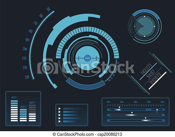 interface, hud, utilisateur, futuriste - csp20086213