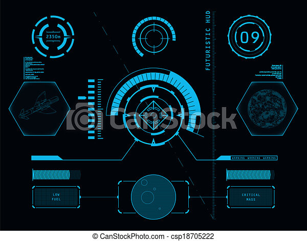 interface, hud, utilisateur, futuriste - csp18705222
