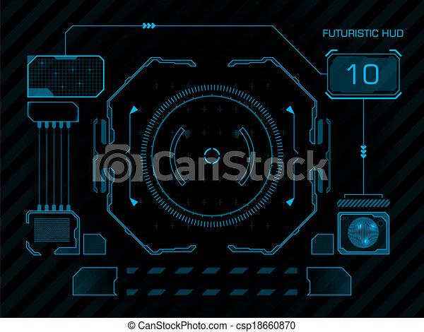 interface, hud, utilisateur, futuriste - csp18660870