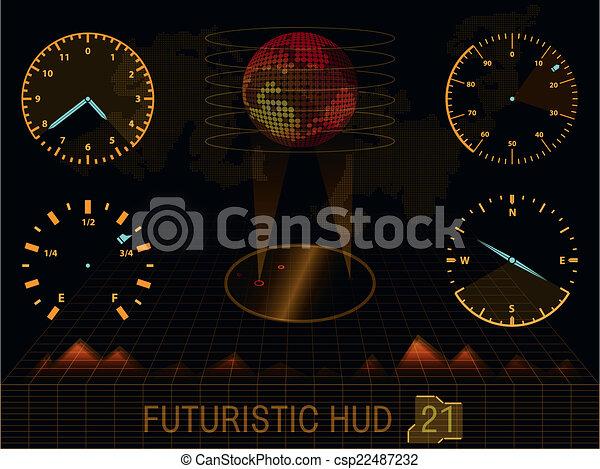 interface, hud, utilisateur, futuriste - csp22487232