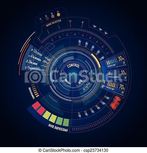 interface, hud, utilisateur, futuriste - csp23734130