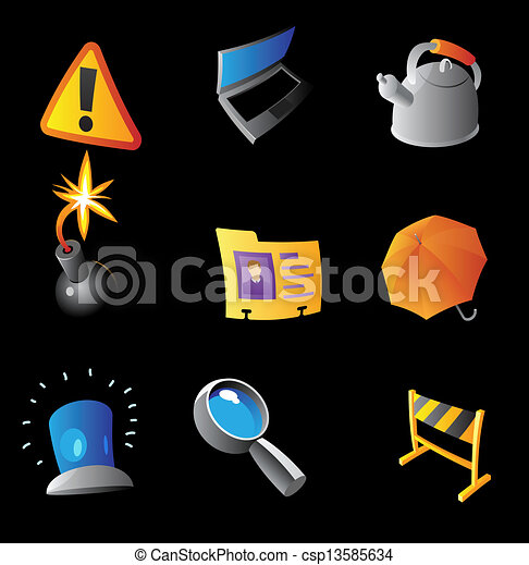 interface, icônes - csp13585634