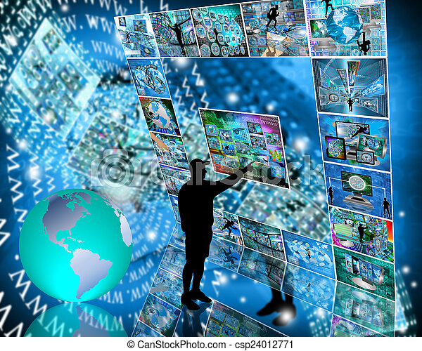 interface, internet - csp24012771