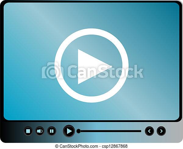 interface, média, joueur - csp12867868