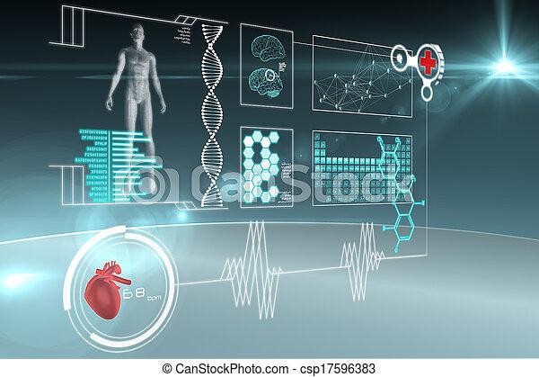 interface, médico - csp17596383