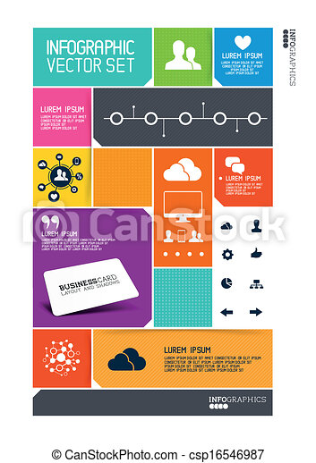 interface, moderne, infographics - csp16546987
