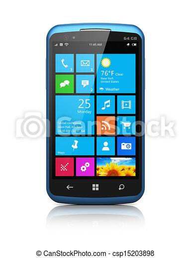 interface, moderne, touchscreen, smartphone - csp15203898