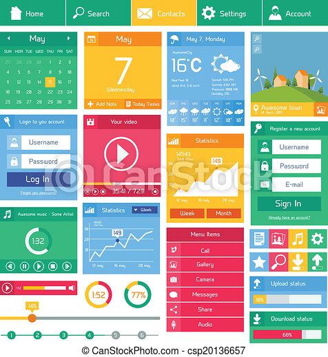 interface, plat, utilisateur, gabarit - csp20136657