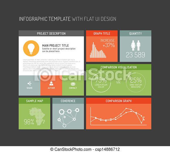 interface, plat, vecteur, utilisateur, infographic - csp14886712