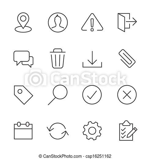 interface, set., caressé, icône - csp16251162