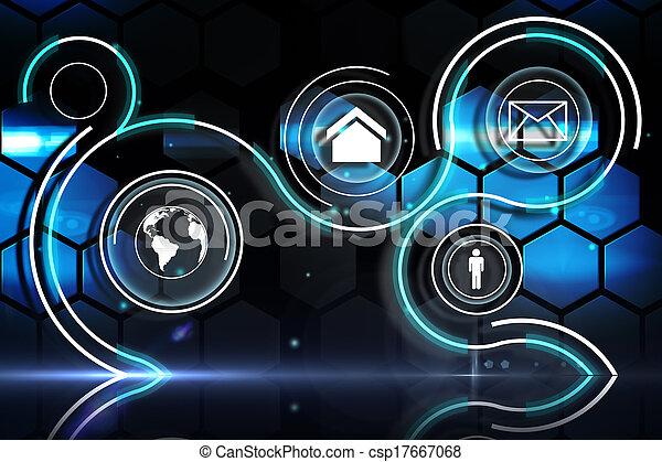 interface, technologie, futuriste - csp17667068