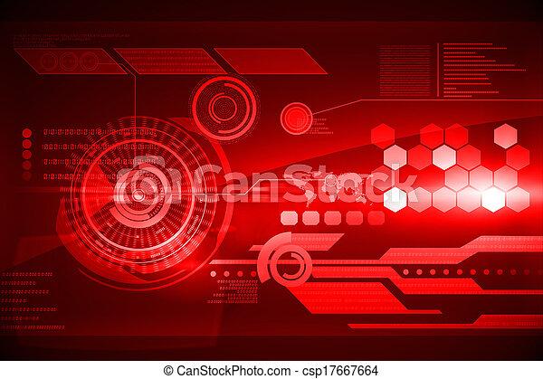 interface, technologie, futuriste - csp17667664