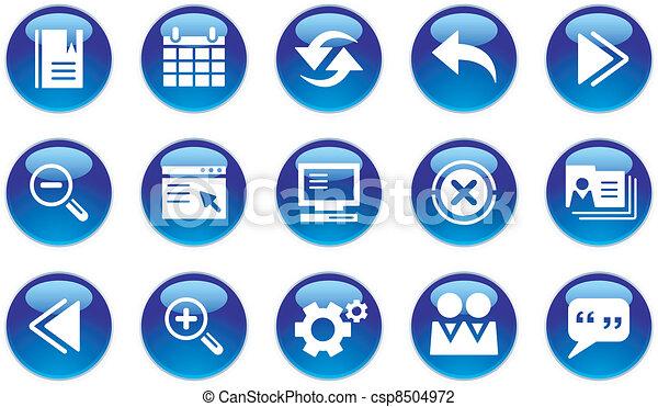 interface, teia, jogo, ícones - csp8504972