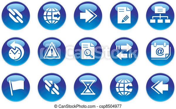 interface, teia, jogo, ícones - csp8504977