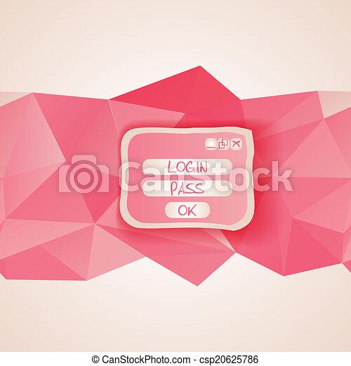 interface, toile, button., gabarit, menu - csp20625786