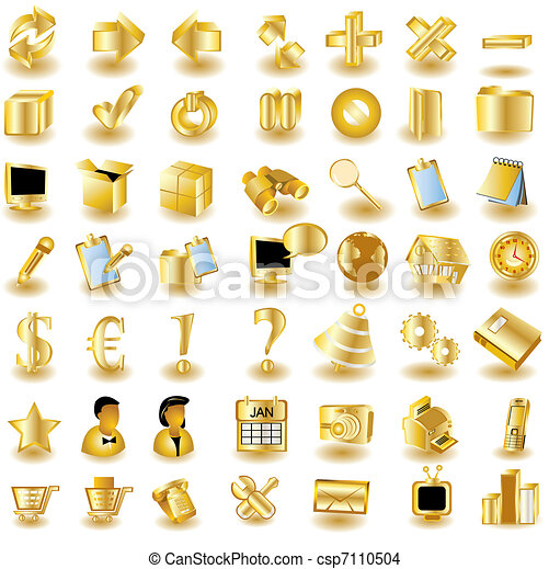 iconos de la interfaz dorada 1 - csp7110504