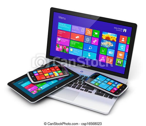 Dispositivos móviles con interfaz de pantalla táctil - csp16568023