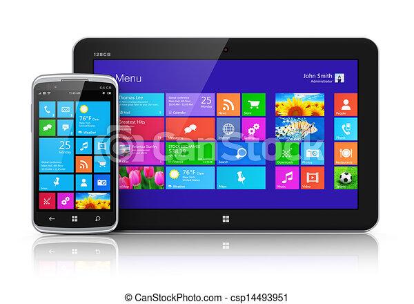 Dispositivos móviles con interfaz de pantalla - csp14493951