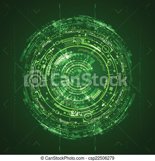 Interfaz de usuario gráfico futurista - csp22506279