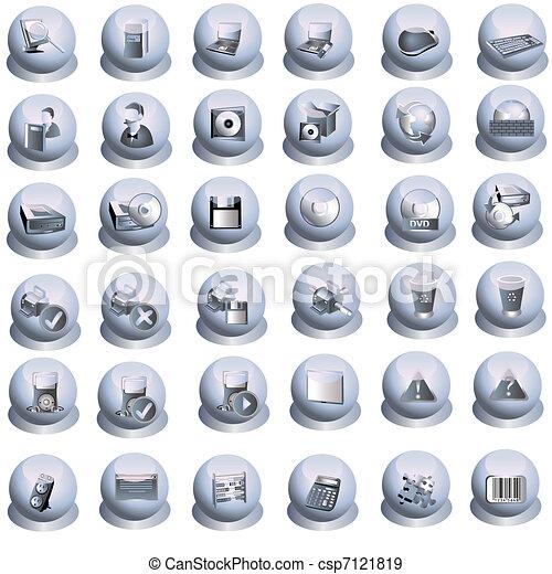 iconos de interfaz grises - csp7121819
