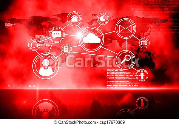 interfaz, tecnología, futurista - csp17670389