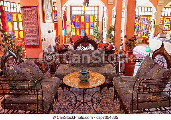 Traditionele , interieur, arabische , hal, foto.