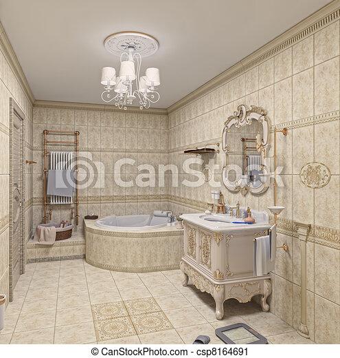 Interieur badkamer badkamer moderne 3d rendering for Badkamer plannen in 3d