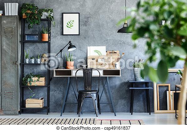 interieur flora artistiek kantoor kamer csp49161837