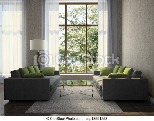 Interieur, huiskamer stock illustraties - Zoek naar Clipart ...