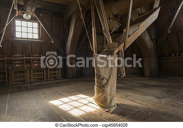 Interieur, molen, winterswijk, bataaf. Nederland, winterswijk ...