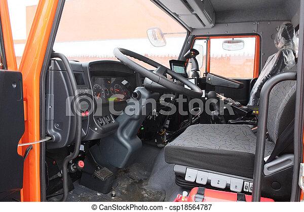 Interieur, vrachtwagen. Interieur, beeld, vrachtwagen beelden - Zoek ...