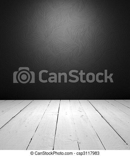 interieur, witte , black , lege - csp3117983
