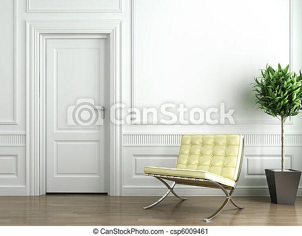 interieur, witte , classieke - csp6009461