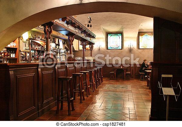 Bar interior 2 - csp1827481