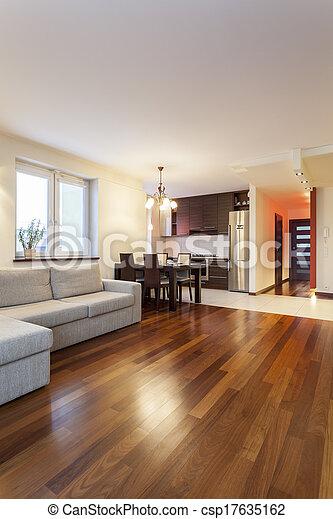 interior, apartamento, modernos, -, espaçoso - csp17635162