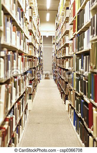 interior, biblioteca - csp0366708
